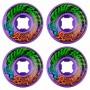 Комплект колес для скейтборда Santa Cruz Slime Balls Vomit Mini Purple 53 mm 97a