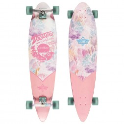 Dusters Cruisin Kelp Longboard Pink/Green 37