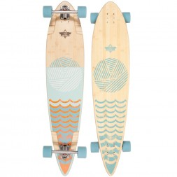 Dusters Ripple Longboard Orange/Baby Blue 44