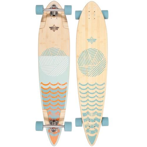 Лонгборд Dusters Ripple Longboard Orange/Baby Blue 44
