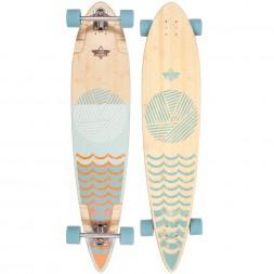 Dusters Ripple Longboard Orange/Baby Blue 44