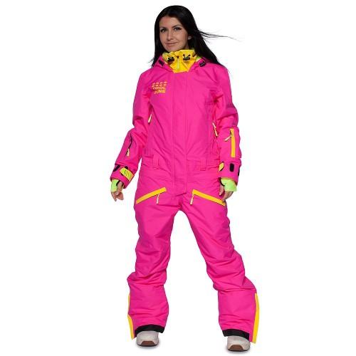 Комбинезон женский для сноуборда Cool Zone Womens Twin One Color 17/18, цикламен/желтый