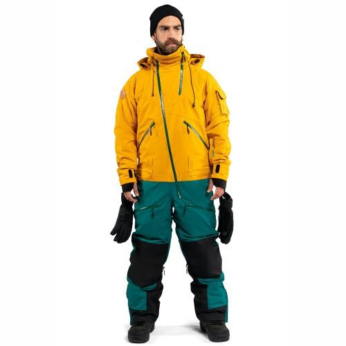 Комбинезон для сноуборда и лыж мужской Cool Zone Mens Kite 18/19, горчичный/болотный