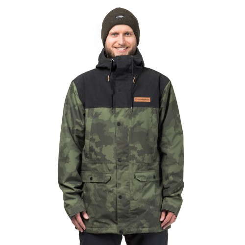 Куртка для сноуборда мужская Horsefeathers Cornell Jacket 18/19, cloud camo