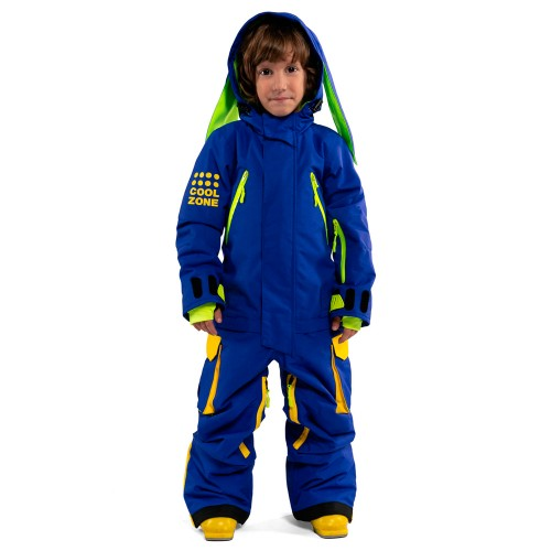 Комбинезон для сноуборда детский Cool Zone Fun Kids 18/19, синий/желтый заяц