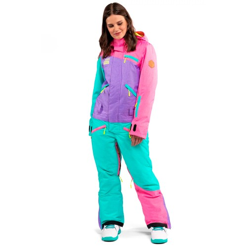 Комбинезон для сноуборда и лыж женский Cool Zone Womens Mix 18/19, цикламен/фиолет/бирюза меланж