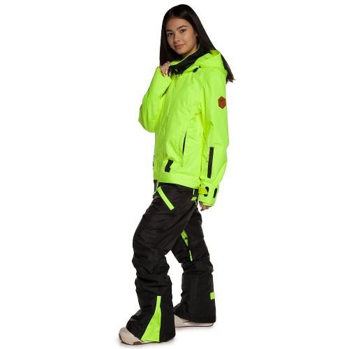 Комбинезон для сноуборда женский Cool Zone Womens Twin 17/18, салат/черный