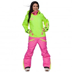 Cool Zone Womens Twin Melange 17/18, салат/цикламен