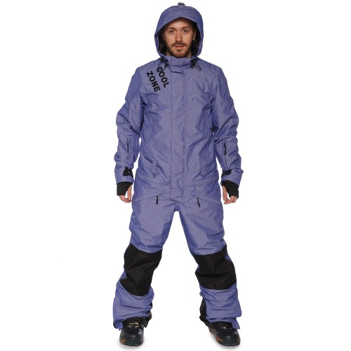 Комбинезон мужской Cool Zone Mens Snowboard 17/18, синий меланж