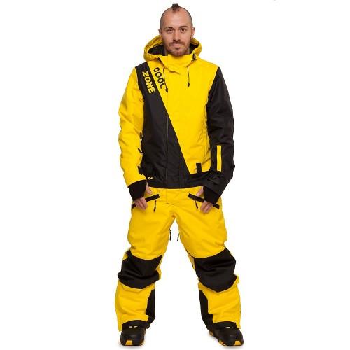 Комбинезон мужской Cool Zone Mens Snowboard 17/18, желтый/черный