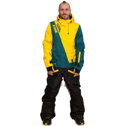 Комбинезон мужской Cool Zone Mens Snowboard 17/18, желтый/болотный/черный