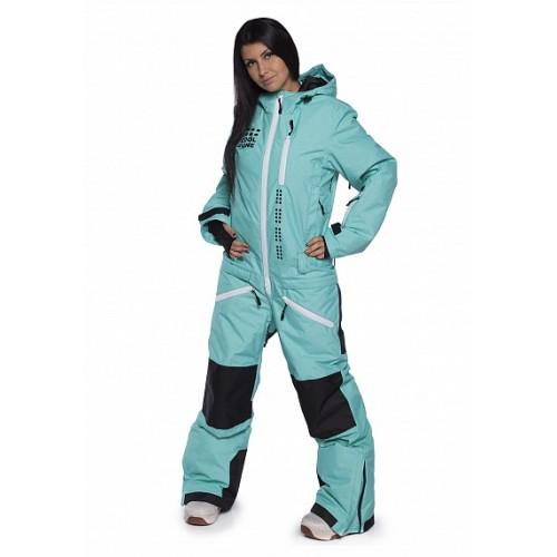 Комбинезон женский для сноуборда и лыж Cool Zone Womens Kite 16/17, бирюзовый меланж