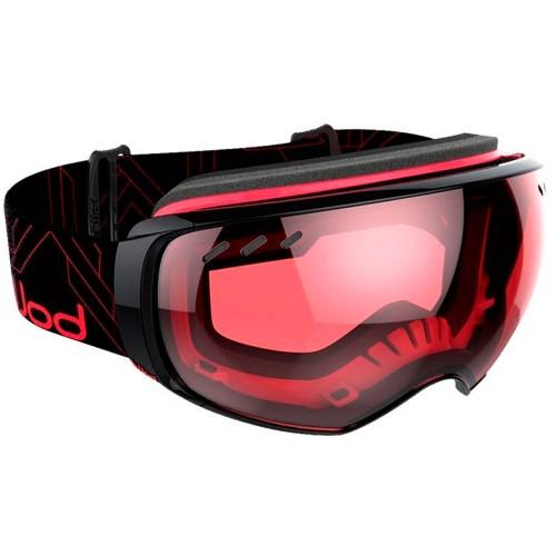 Маска для сноуборда и горных лыж Bolle Virtuose Black/Red Vermilion Gun + Lemon