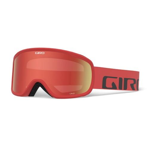 Маска для сноуборда и лыж Giro Cruz Red Wordmark Amber Scarlet 18/19