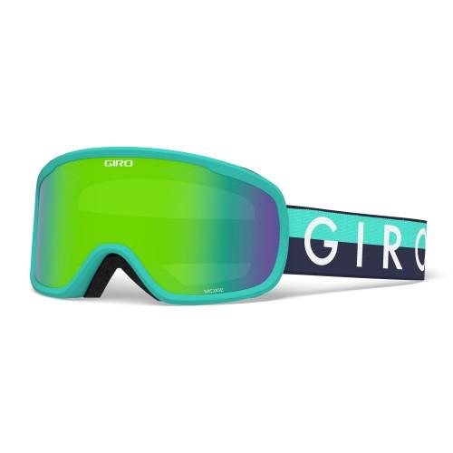 Маска для сноуборда и лыж женская Giro Moxie Glacier Throwback Loden Green/Yellow 18/19