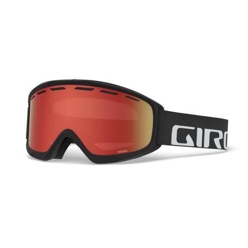 Маска для сноуборда и лыж Giro INDEX Black Wordmark/Amber Scarlet