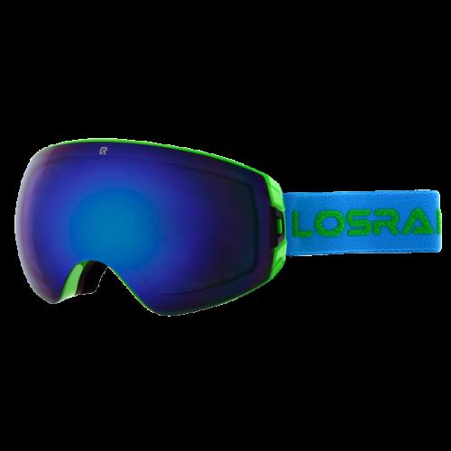 Маска для сноуборда и лыж Los Raketos Astro Green Blue Mirror 16/17