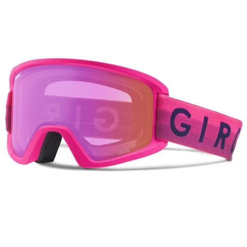 Женская маска для сноуборда и лыж Giro Dylan Bright Pink Horizon Amber Pink/Yellow 17/18