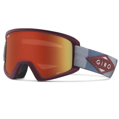 Маска для сноуборда и лыж Giro Semi Maroon/T.M.D Amber Scarlet/Yellow 17/18
