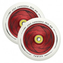 Колеса для самоката Fuzion 110 mm Wheel (pair) - Marker / White Red Core White PU