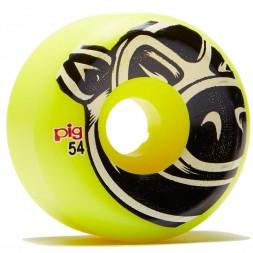 Комплект колес Pig Head Yellow 54 mm 101A
