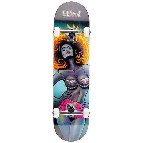 Скейтборд в сборе Blind Blacklight Girl FP Complete Black 8.0