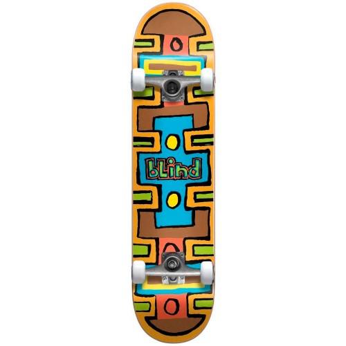 Скейтборд в сборе Blind Square Space FP Soft Wheels Complete Brown 7.75