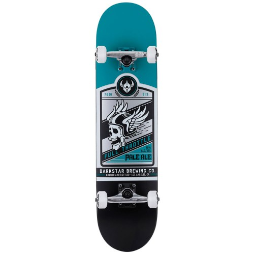Скейтборд в сборе Darkstar Full Throttle FP Soft Wheels Complete Matte Teal 7.625