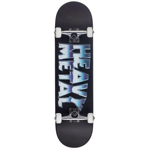 Скейтборд в сборе Darkstar Heavy Metal Chrome FP Complete Black 8.0