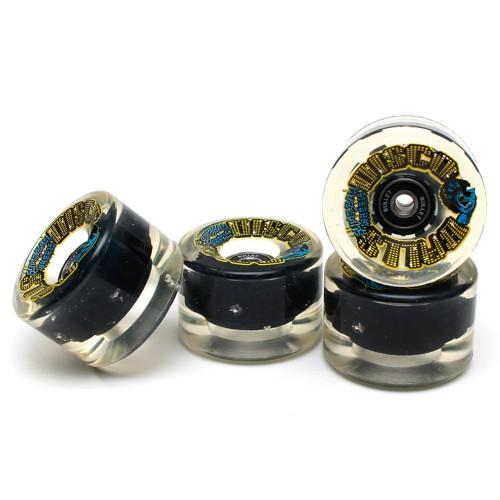 Комплект светящихся колес с подшипниками Santa Cruz Slime Balls Disco 66 mm