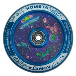 Колесо для самоката Комета Чиллзон прозначно-синий
