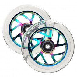 Комплект колес для самоката Fuzion 110 mm Wheel Flight Neochrome / Clear