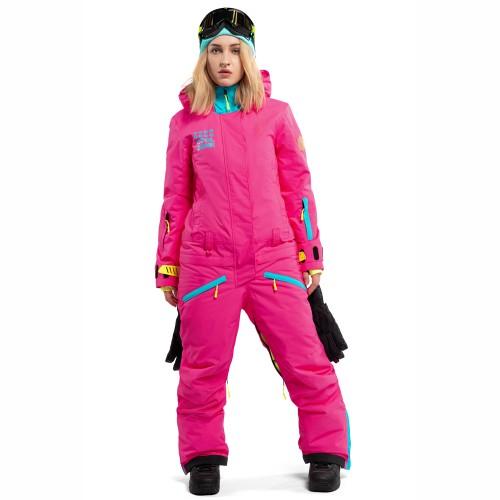 Комбинезон для сноуборда и лыж женский Cool Zone Womens Twin One Color 18/19, цикламен/бирюза