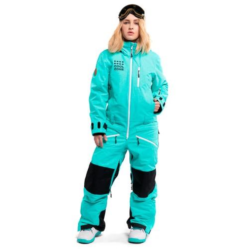 Комбинезон для сноуборда и лыж женский Cool Zone Womens Kite 18/19, бирюза/меланж