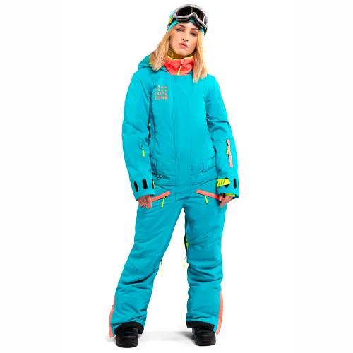 Комбинезон для сноуборда и лыж женский Cool Zone Womens Twin One Color 18/19, волна/коралл