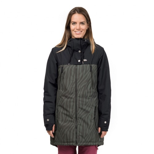 Куртка для сноуборда женская Horsefeathers Womens Chipy Jacket 18/19, zebra
