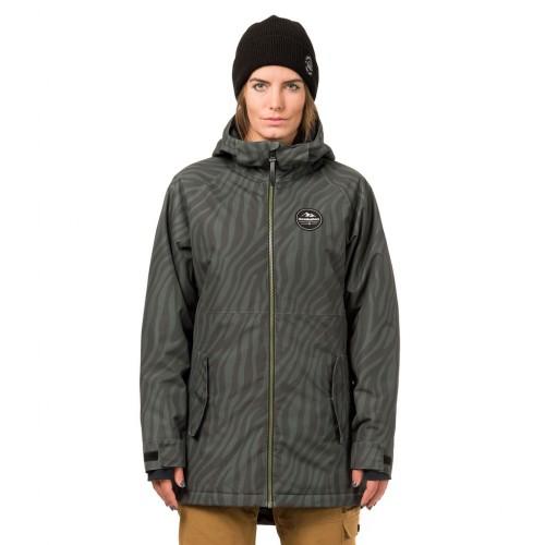 Куртка для сноуборда женская Horsefeathers Womens Dina Jacket 18/19, zebra
