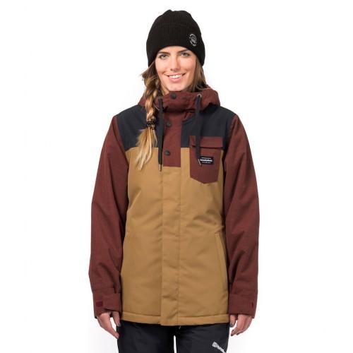 Куртка для сноуборда женская Horsefeathers Womens Loma Jacket 18/19, cumin