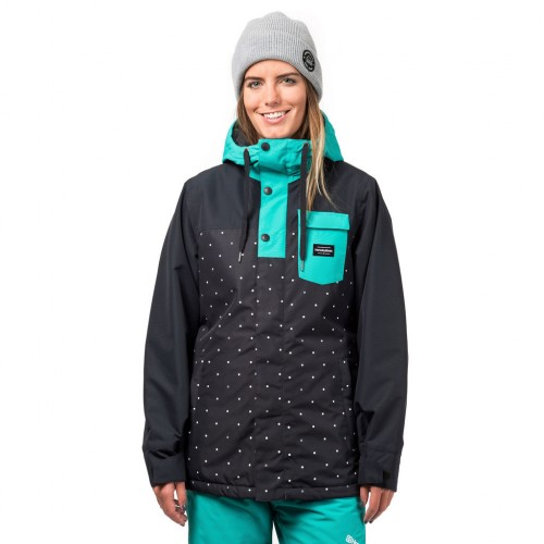 Куртка для сноуборда женская Horsefeathers Womens Loma Jacket 18/19, dots
