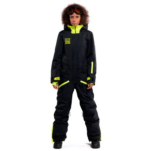 Комбинезон для сноуборда и лыж женский Cool Zone Womens Twin One Color 18/19, черный/салат