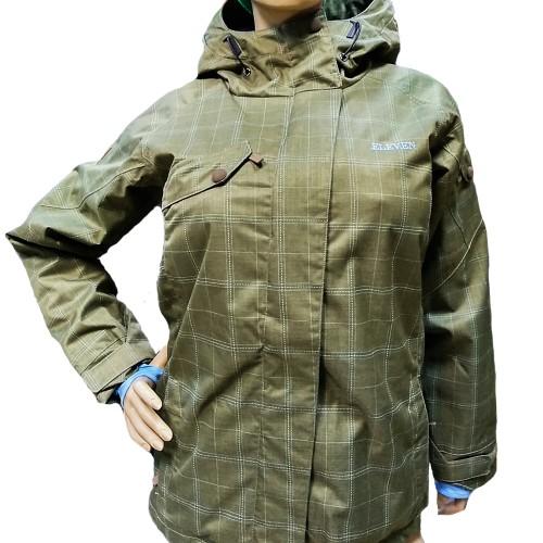 Куртка женская для сноуборда Eleven Jodie Jacket Canteen Brown/Sky