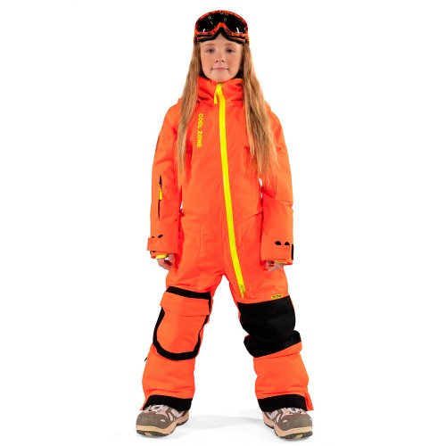 Комбинезон для сноуборда детский Cool Zone Ice Kids 18/19, оранжевый