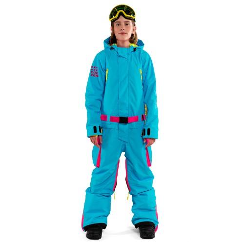 Комбинезон для сноуборда подростковый Cool Zone Teens Fun 18/19, бирюза/цикламен