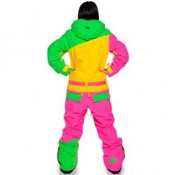 Cool Zone Womens Suit 16/17, лайм/желтый/цикломен
