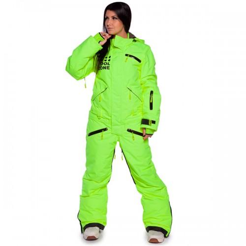 Комбинезон женский для сноуборда и лыж Cool Zone Womens Suit 16/17, салат