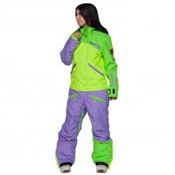 Cool Zone Womens Mix Melange 17/18, лайм/салат/фиолет