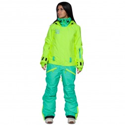 Cool Zone Womens Twin Melange 17/18, салат/бирюза