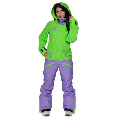 Комбинезон женский Cool Zone Womens Twin Melange 17/18, лайм/фиолет