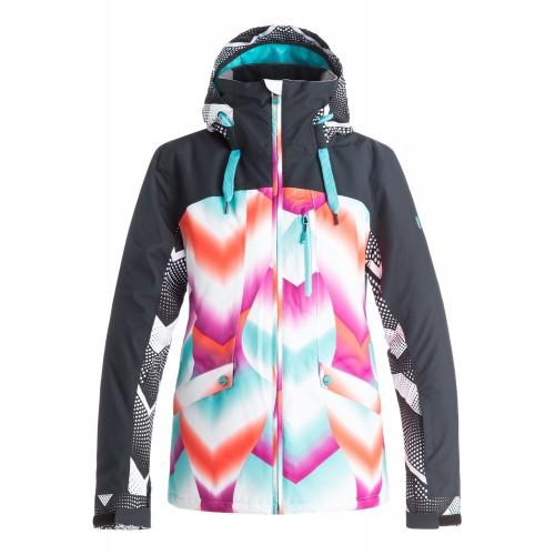 Куртка для сноуборда женская Roxy Wildlife 16/17, pop snow ocean